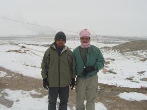 Bergambar bersama di Karshi, Uzbekistan